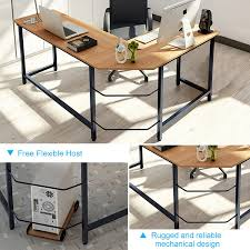 Wooden Table L Tribesigns Modern L Shaped Desk Corner Computer Desk Pc Latop