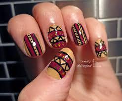 simply nailogical an attempt at tribal nail art