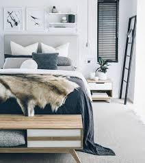 d o chambre scandinave déco fausse fourrure et peaux de bêtes pour un hiver cocooning