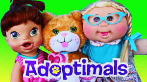 new cabbage patch dolls adoptimals baby alive lucy toy review