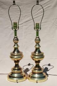solid brass torch lamps w three way switch mid century vintage