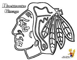 chicago blackhawks coloring page get the other hockey teams