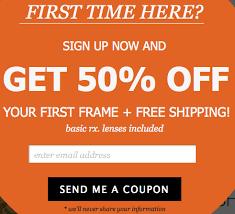 50 Lenses Rx Coupon Promo Glasses Usa 50 Free Shipping Ends Tomorrow