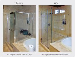 Corner Shower Glass Doors Glass Shower Doors Enclosures Dulles Glass Mirror Dulles