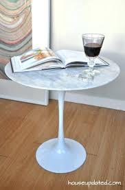 tulip side table knock off tulip coffee table style mid century marble tulip side table