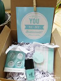will you be my of honor gift diy will you be my bridesmaid gift box kate aspen
