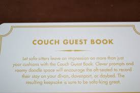 Sofa King by Amazon Com Knock Knock Couch Guest Book Office Products