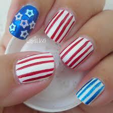 easy fourth of july nail art decoracion de uñas facil para el 4