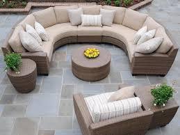 round sectional sofa whitecraft by woodard saddleback wicker circular sectional sofa