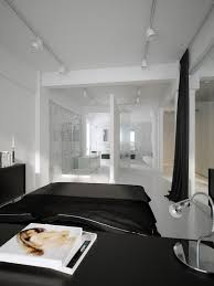 Small End Tables For Bedroom Black And White Bedroom Design White Black Colors Covered Bedding