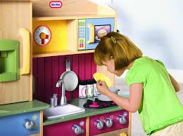 little tikes premium cooking creations wood kitchen amazon co uk