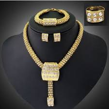 african gold necklace images African gold plated jewelry sets new fashion women wedding alloy jpg