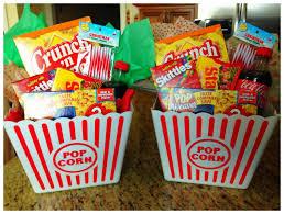 popcorn baskets popcorn goodie baskets