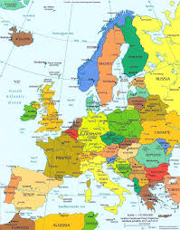 Europe On World Map by 80 Anthems