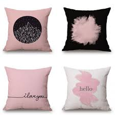 black and pink throw pillows for gray couch modern couch pillows