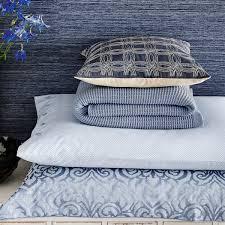 blue bedding atara jacquard bedding in blue at bedeck 1951
