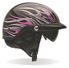 ladies motorcycle gear bell women u0027s pit boss pink flames helmet size xl 2xl only revzilla