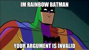 Rainbow Meme - rainbow batman memes quickmeme