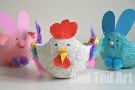 paper mache easter eggs easter baskets for kids papier mache hen