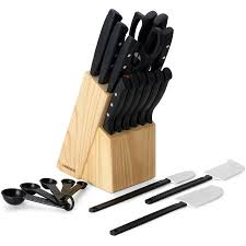 walmart kitchen knives farberware 22 never needs sharpening knife set walmart com