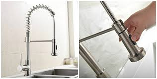 double handle kitchen faucet delta touch kitchen faucet battery combined brushed nickel water