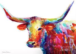 longhorn painting by svetlana novikova