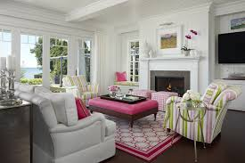Pink Living Room Chair Pink And Green Living Room Cottage Living Room Marianne Jones
