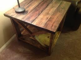 Rustic Wood Furniture Diy Rustic Wood End Tables Decorate Rustic End Tables U2013 Home