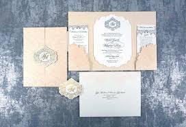 gatefold wedding invitations neha michael intricate creations
