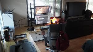 L Shaped Studio Desk L Shaped Black Iron Desk Build U0026 Battlestation Album On Imgur