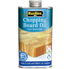 rustins anti bacterial chopping board oil 250ml