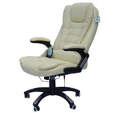 Luxury Leather Office Chairs Uk Homcom Pu Leather Office W Massage Function High Back Cream