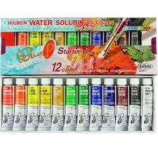 save on discount holbein aqua water mixable oil paint set 12
