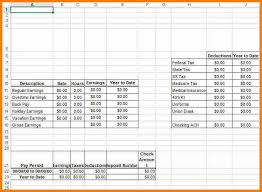Paystub Template Excel 6 Excel Pay Stub Template Resume Reference