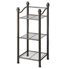 Bronze Bathroom Shelves Buy Rubbed Bronze Shelving From Bed Bath Beyond