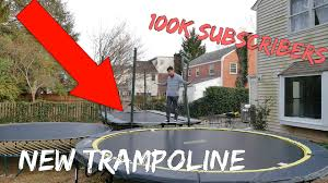 insane backyard trampoline park youtube