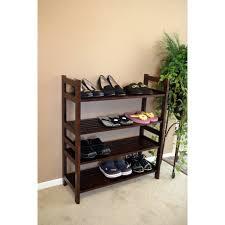 vertical shoe rack 4 tier wooden shoe rack vertical storage shelf