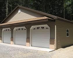 3 door garage garages by martin s construction of mifflinburg llc