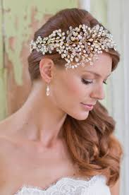 wedding tiara leafy headdress pearl and swarovski leaf vintage