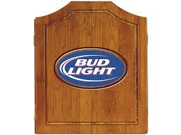 Bud Light Logo Fascinating Dart Board Cabinet Wood Material Bud Light Logo