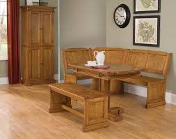 Laminate Flooring Corners Furniture Corner Brown Wooden Dining Bench With Backrest Combined