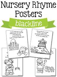 nursery rhyme printables prekinders
