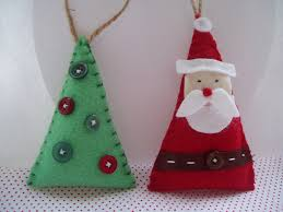 felt christmas decorations crafts to make pinterest