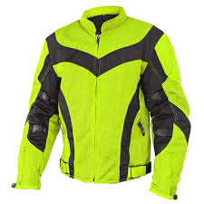 motorcycle riding jackets with armor amazon com xelement cf6019 invasion mens neon green mesh armored