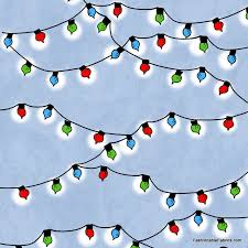 Fabric Peanuts Christmas Time Lights In Blue By Quilting