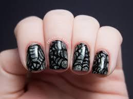 saran wrap spiderwebs chalkboard nails nail art blog