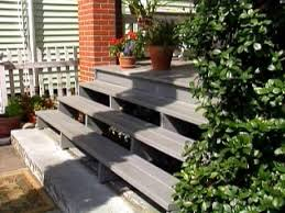 Back Porch Stairs Design Replace Wooden Porch Steps Hgtv