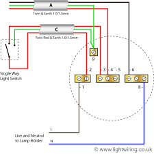 radial circuit light wiring diagram old colours light wiring