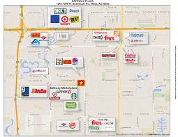 Map Of Chandler Az Safeway Marketplace In Mesa Az