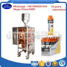 pictures of packing gel automatic isotonic energy gel sachets packing machine irregular